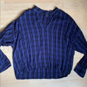 Madewell pullover plaid long sleeve XL